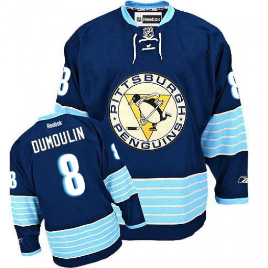 Brian Dumoulin Pittsburgh Penguins Men's Reebok Premier Navy Blue Third Vintage Jersey