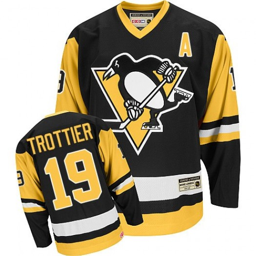 Bryan Trottier Pittsburgh Penguins Men's CCM Premier Black Throwback Jersey