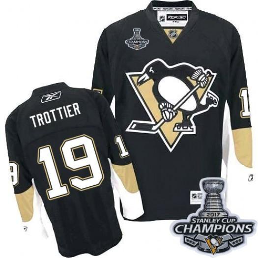 Bryan Trottier Pittsburgh Penguins Men's Reebok Authentic Black Home 2016 Stanley Cup Champions Jersey