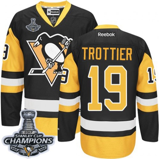 Bryan Trottier Pittsburgh Penguins Men's Reebok Authentic Black/Gold Third 2016 Stanley Cup Champions Jersey