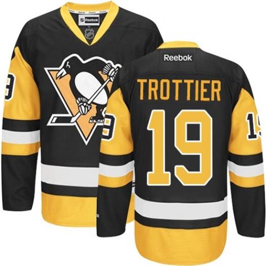 Bryan Trottier Pittsburgh Penguins Men's Reebok Authentic Black/Gold Third Jersey