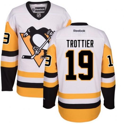 Bryan Trottier Pittsburgh Penguins Men's Reebok Authentic White Away Jersey