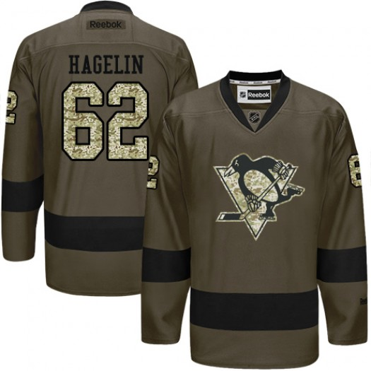 Carl Hagelin Pittsburgh Penguins Men's Reebok Authentic Green Salute to Service Jersey