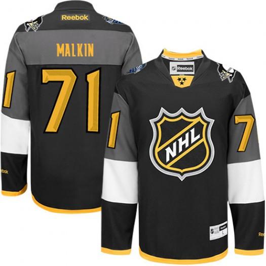Evgeni Malkin Pittsburgh Penguins Men's Reebok Authentic Black 2016 All Star Jersey