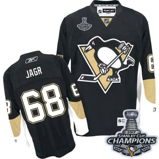 Jaromir Jagr Pittsburgh Penguins Men's Reebok Authentic Black Home 2016 Stanley Cup Champions Jersey