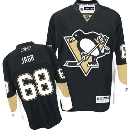Jaromir Jagr Pittsburgh Penguins Men's Reebok Authentic Black Home Jersey