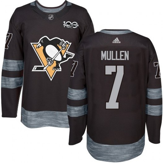 Joe Mullen Pittsburgh Penguins Men's Adidas Authentic Black 1917-2017 100th Anniversary Jersey