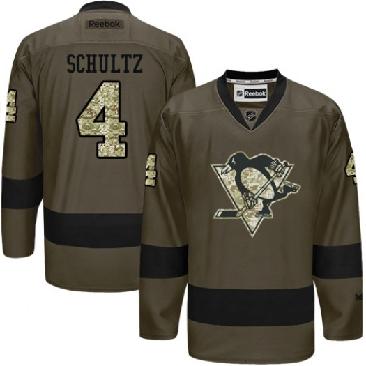 Justin Schultz Pittsburgh Penguins Men's Reebok Authentic Green Salute to Service Jersey