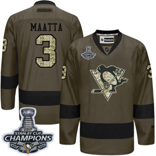 Kris Letang Pittsburgh Penguins Men's Reebok Authentic Black Home 50th Anniversary Patch Jersey