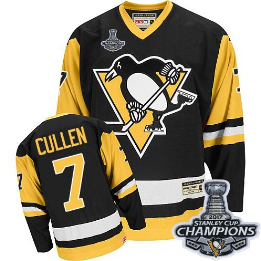 Matt Cullen Pittsburgh Penguins Men's CCM Premier Black Throwback 2016 Stanley Cup Champions Jersey