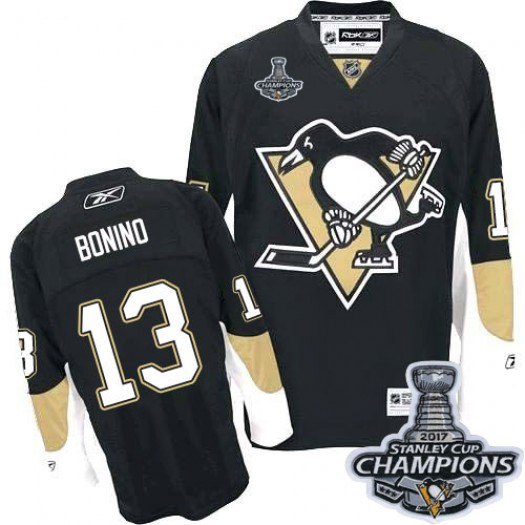 Nick Bonino Pittsburgh Penguins Men's Reebok Authentic Black Home 2016 Stanley Cup Champions Jersey