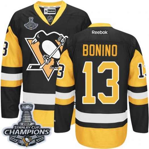 Nick Bonino Pittsburgh Penguins Men's Reebok Authentic Black/Gold Third 2016 Stanley Cup Champions Jersey