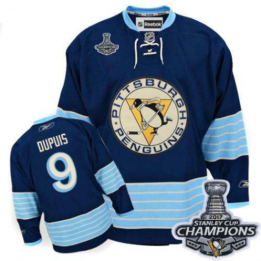 Pascal Dupuis Pittsburgh Penguins Men's Reebok Authentic Navy Blue Third Vintage 2016 Stanley Cup Champions Jersey