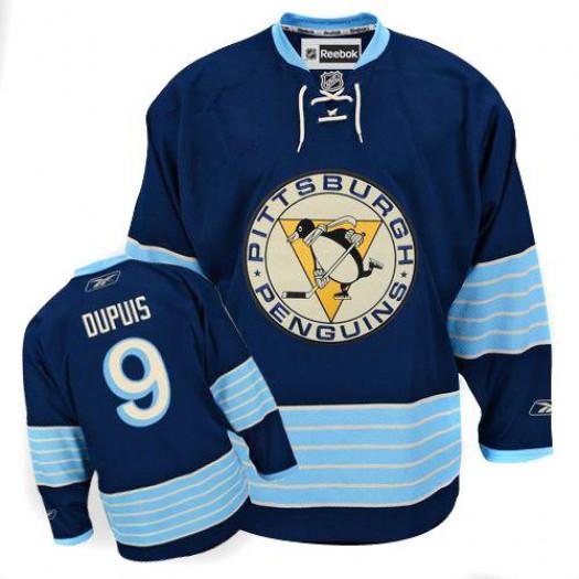 Pascal Dupuis Pittsburgh Penguins Men's Reebok Authentic Navy Blue Third Vintage Jersey