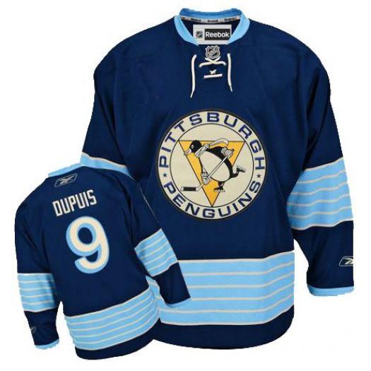 Pascal Dupuis Pittsburgh Penguins Men's Reebok Premier Navy Blue Third Vintage Jersey