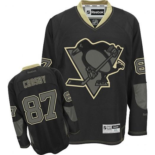 Sidney Crosby Pittsburgh Penguins Men's Reebok Authentic Black Ice Jersey