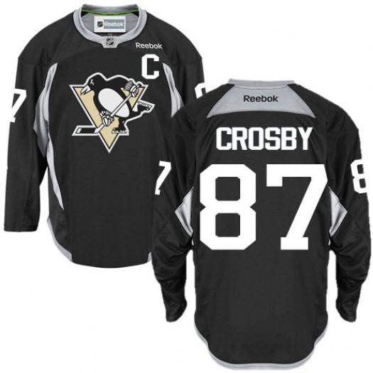 Sidney Crosby Pittsburgh Penguins Men's Reebok Authentic Black Practice Jersey