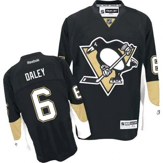 Trevor Daley Pittsburgh Penguins Men's Reebok Authentic Black Home Jersey