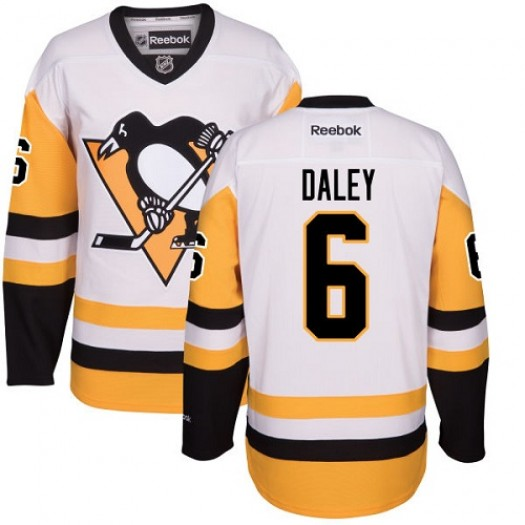 Trevor Daley Pittsburgh Penguins Men's Reebok Authentic White Away Jersey
