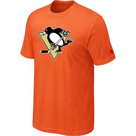 Pittsburgh Penguins Men's Orange Big & Tall Logo T-Shirt