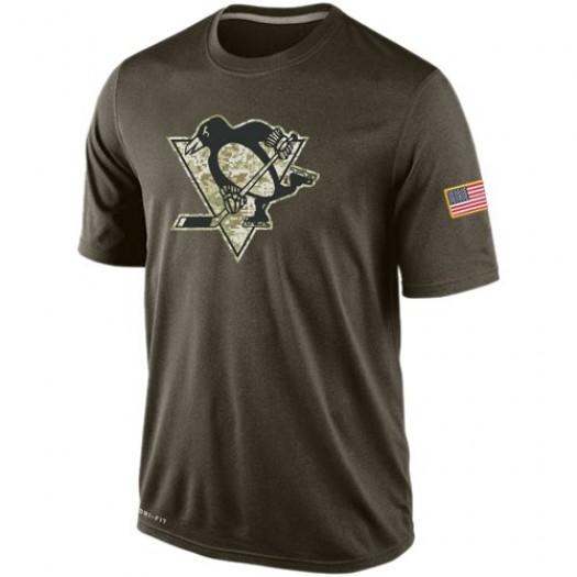 Pittsburgh Penguins Men's Nike Olive Salute To Service KO Performance Dri-FIT T-Shirt