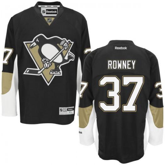 Carter Rowney Pittsburgh Penguins Men's Reebok Replica Black Home Jersey