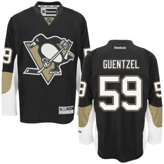 Jake Guentzel Pittsburgh Penguins Men's Reebok Replica Black Home Jersey