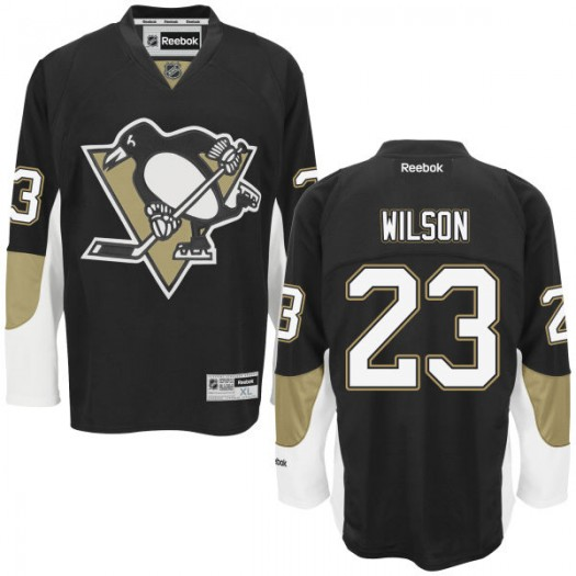 Scott Wilson Pittsburgh Penguins Men's Reebok Replica Black Home Jersey