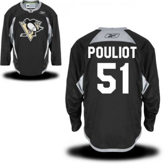 Derrick Pouliot Pittsburgh Penguins Men's Reebok Premier Black Practice Alternate Jersey