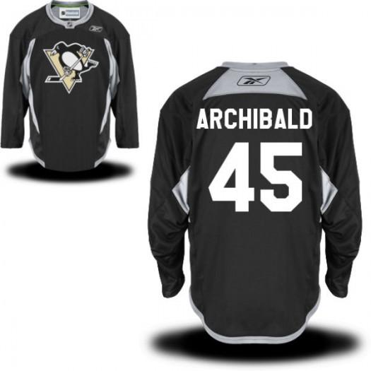 Josh Archibald Pittsburgh Penguins Men's Reebok Premier Black Practice Alternate Jersey