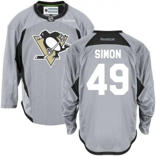 Dominik Simon Pittsburgh Penguins Men's Reebok Premier Gray Practice Team Jersey