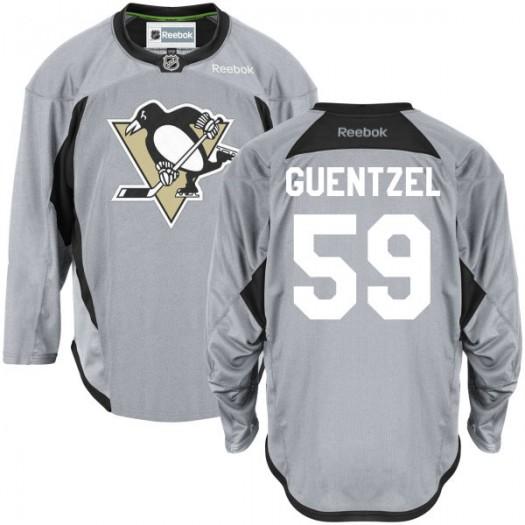 Jake Guentzel Pittsburgh Penguins Men's Reebok Premier Gray Practice Team Jersey