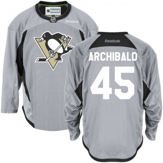 Josh Archibald Pittsburgh Penguins Men's Reebok Premier Gray Practice Team Jersey