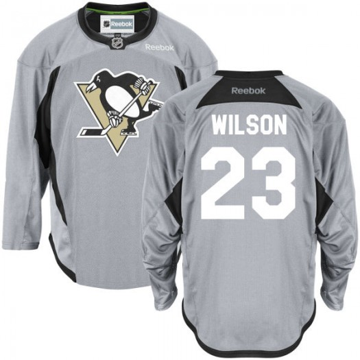 Scott Wilson Pittsburgh Penguins Men's Reebok Premier Gray Practice Team Jersey