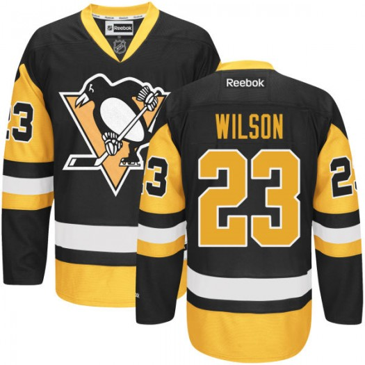 Scott Wilson Pittsburgh Penguins Men's Reebok Premier Black Alternate Jersey