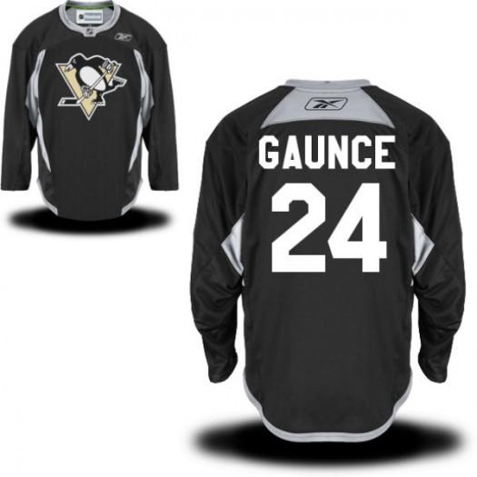 Cameron Gaunce Pittsburgh Penguins Men's Reebok Authentic Black Practice Alternate Jersey