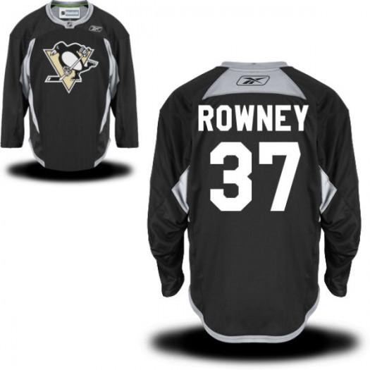 Carter Rowney Pittsburgh Penguins Men's Reebok Authentic Black Practice Alternate Jersey