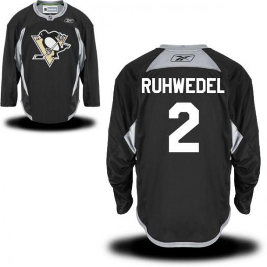 Chad Ruhwedel Pittsburgh Penguins Men's Reebok Authentic Black Practice Alternate Jersey