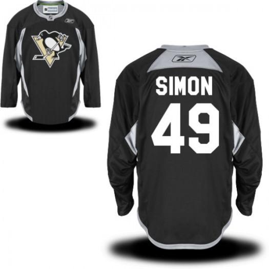 Dominik Simon Pittsburgh Penguins Men's Reebok Authentic Black Practice Alternate Jersey