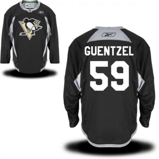 Jake Guentzel Pittsburgh Penguins Men's Reebok Authentic Black Practice Alternate Jersey