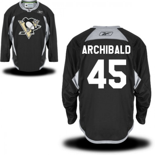 Josh Archibald Pittsburgh Penguins Men's Reebok Authentic Black Practice Alternate Jersey