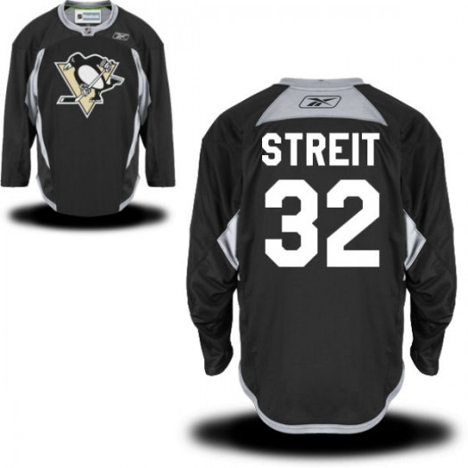 Mark Streit Pittsburgh Penguins Men's Reebok Authentic Black Practice Alternate Jersey