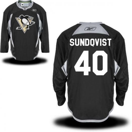 Oskar Sundqvist Pittsburgh Penguins Men's Reebok Authentic Black Practice Alternate Jersey