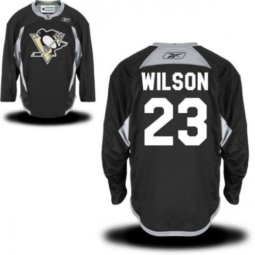 Scott Wilson Pittsburgh Penguins Men's Reebok Authentic Black Practice Alternate Jersey