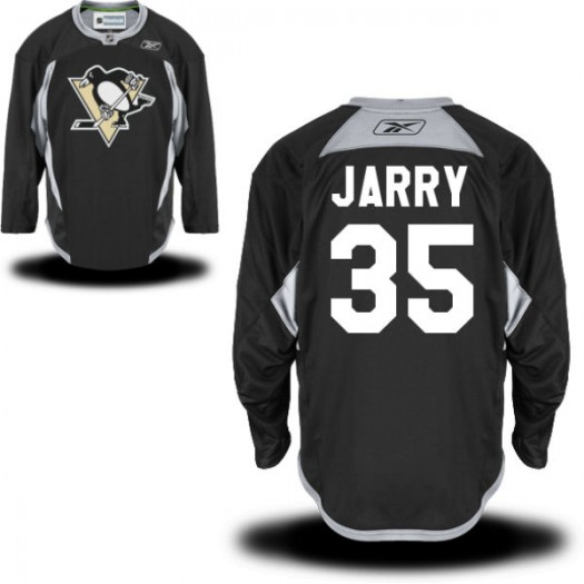 Tristan Jarry Pittsburgh Penguins Men's Reebok Authentic Black Practice Alternate Jersey