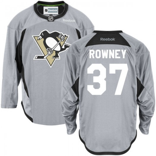 Carter Rowney Pittsburgh Penguins Men's Reebok Authentic Gray Practice Team Jersey
