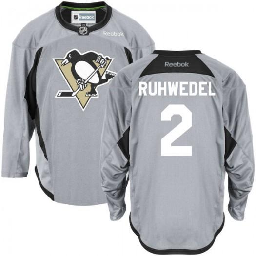 Chad Ruhwedel Pittsburgh Penguins Men's Reebok Authentic Gray Practice Team Jersey