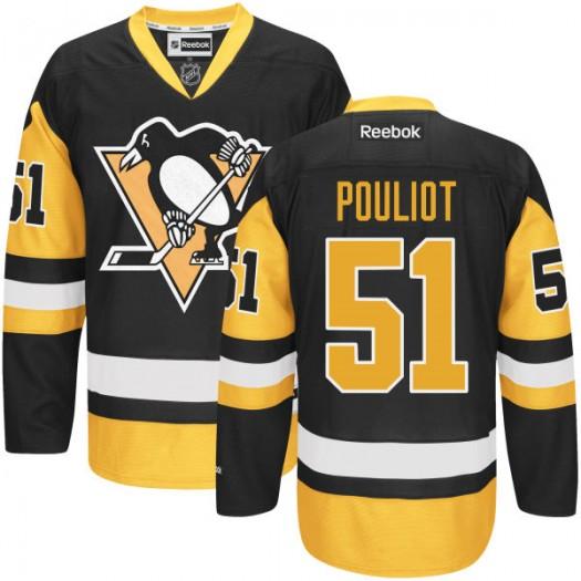 Derrick Pouliot Pittsburgh Penguins Men's Reebok Authentic Black Alternate Jersey