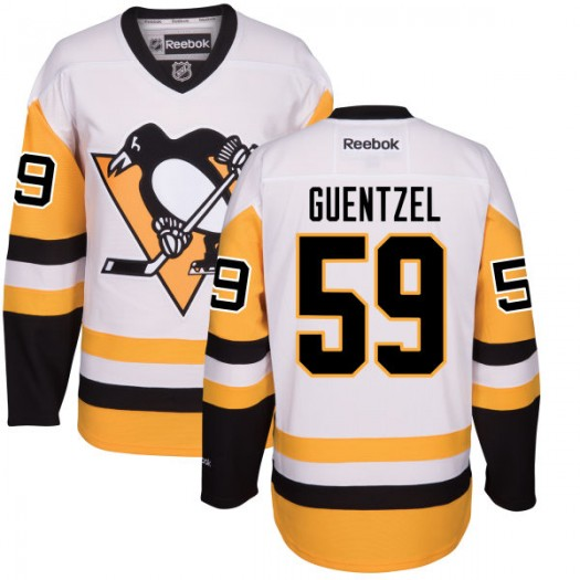 Jake Guentzel Pittsburgh Penguins Men's Reebok Authentic White Away Jersey