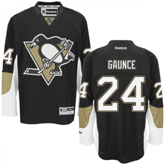Cameron Gaunce Pittsburgh Penguins Men's Reebok Authentic Black Home Jersey